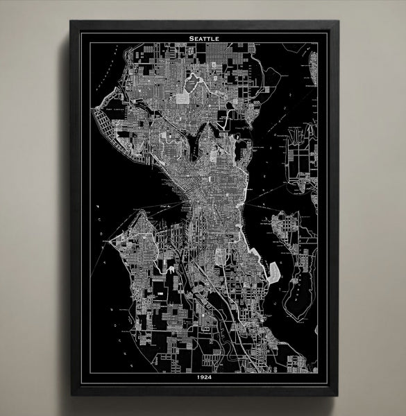 Map Print, SEATTLE - Map Prints by GeoArtShed  - 2