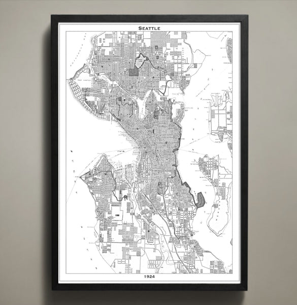 Map Print, SEATTLE - Map Prints by GeoArtShed  - 1