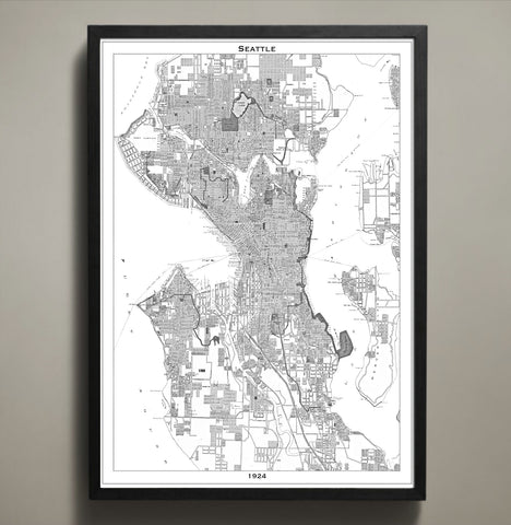 Map prints for the Home or Office
