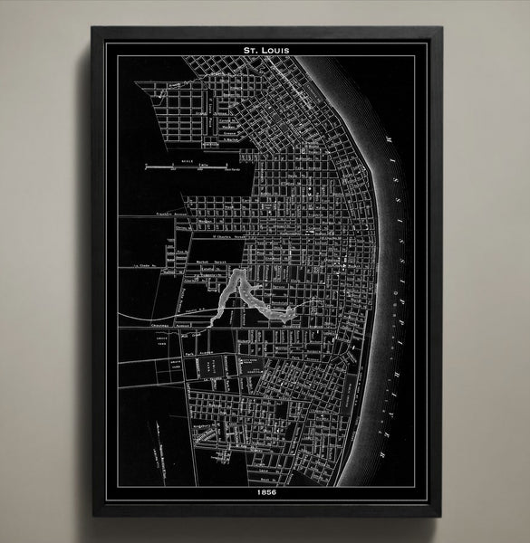 Map Print, ST. LOUIS - Map Prints by GeoArtShed  - 1