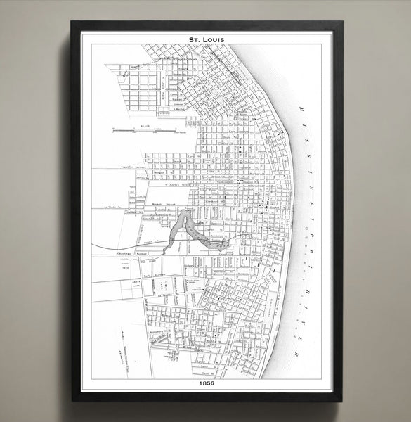 Map Print, ST. LOUIS - Map Prints by GeoArtShed  - 2