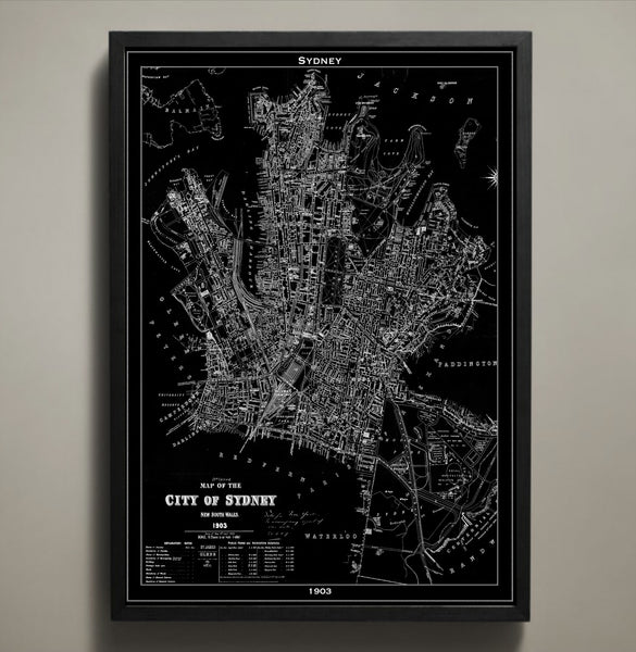 Map Print, SYDNEY - Map Prints by GeoArtShed  - 1