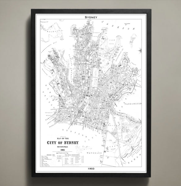 Map Print, SYDNEY - Map Prints by GeoArtShed  - 2