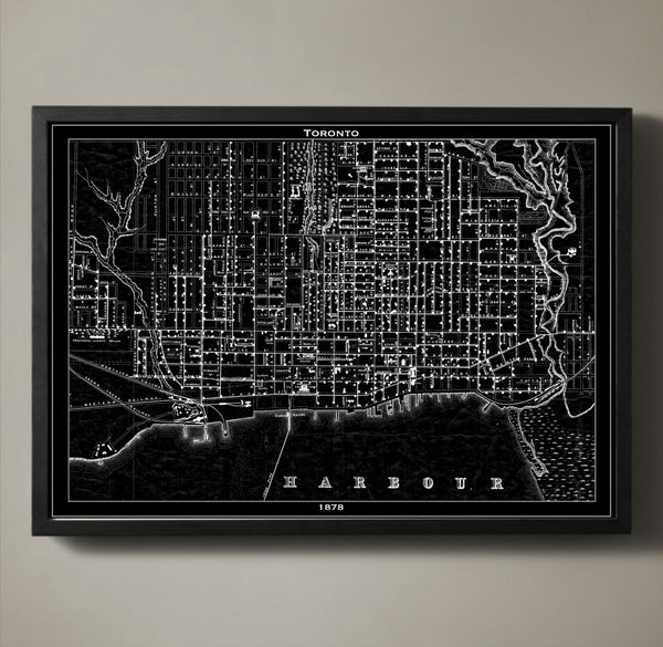 Map Print, TORONTO - Map Prints by GeoArtShed  - 1