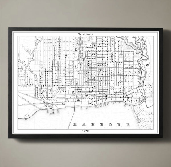 Map Print, TORONTO - Map Prints by GeoArtShed  - 2