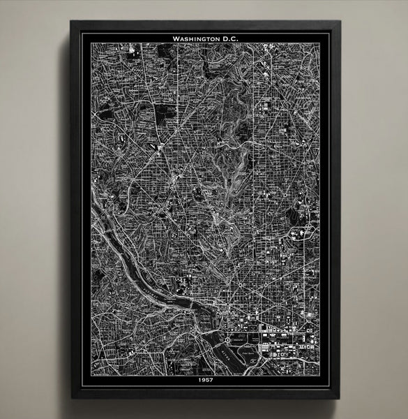 Map Print, WASHINGTON DC - Map Prints by GeoArtShed  - 2