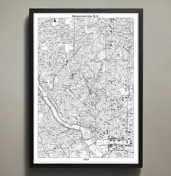 Map Print, WASHINGTON DC - Map Prints by GeoArtShed  - 1