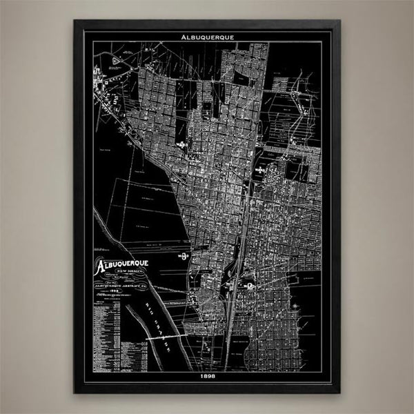 Map Print, ALBUQUERQUE - Map Prints by GeoArtShed  - 1