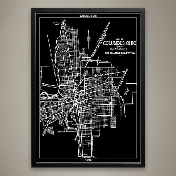 Map Print, Columbus - Map Prints by GeoArtShed  - 1