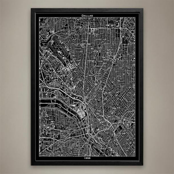 Map Print, DALLAS - Map Prints by GeoArtShed  - 1