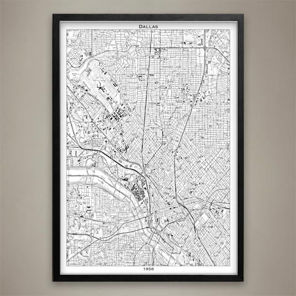 Map Print, DALLAS - Map Prints by GeoArtShed  - 2