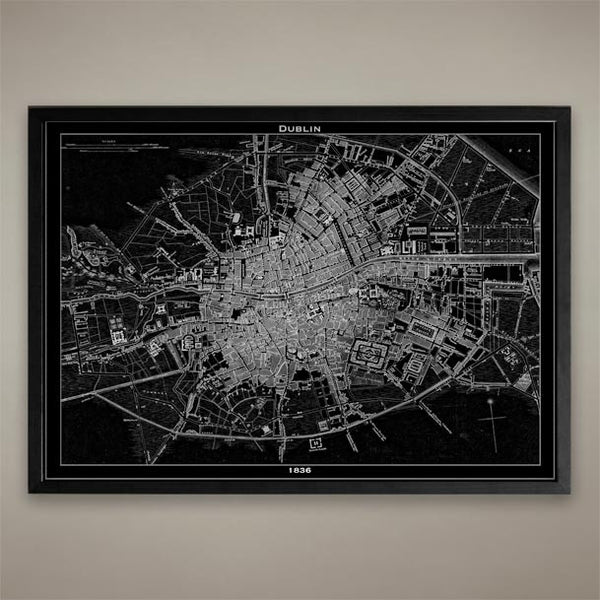 Map Print, Dublin - Map Prints by GeoArtShed  - 1