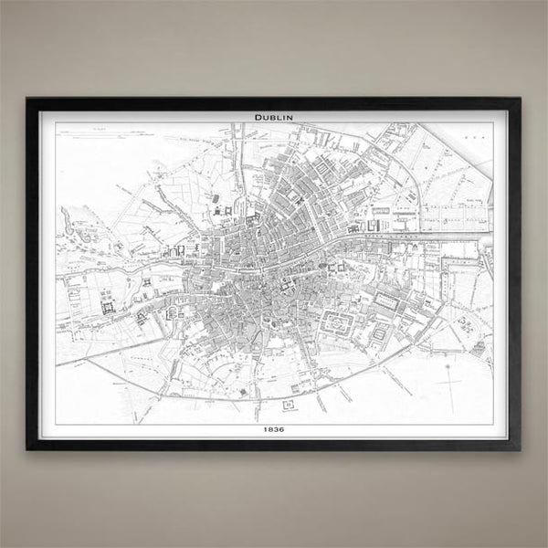 Map Print, Dublin - Map Prints by GeoArtShed  - 2