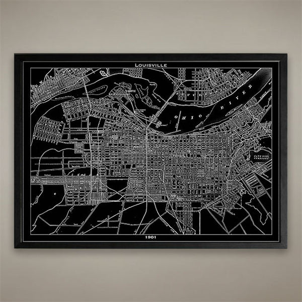 Map Print, Louisville - Map Prints by GeoArtShed  - 1