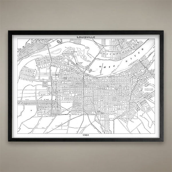 Map Print, Louisville - Map Prints by GeoArtShed  - 2