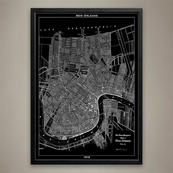 Map Print, NEW ORLEANS - Map Prints by GeoArtShed  - 1