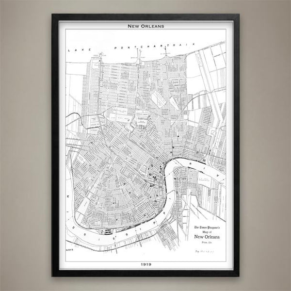 Map Print, NEW ORLEANS - Map Prints by GeoArtShed  - 2