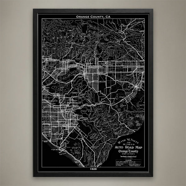 Map Print, ORANGE COUNTY, CA - Map Prints by GeoArtShed  - 1