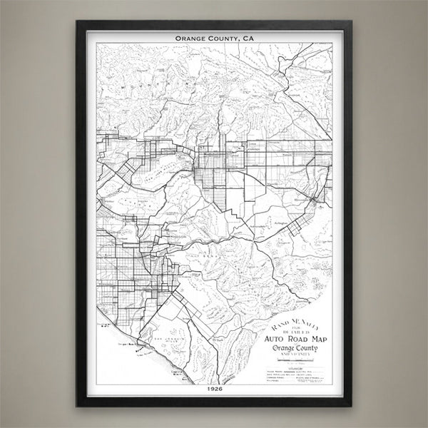 Map Print, ORANGE COUNTY, CA - Map Prints by GeoArtShed  - 2