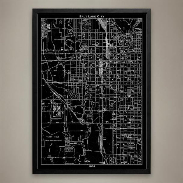 Map Print, SALT LAKE CITY - Map Prints by GeoArtShed  - 1