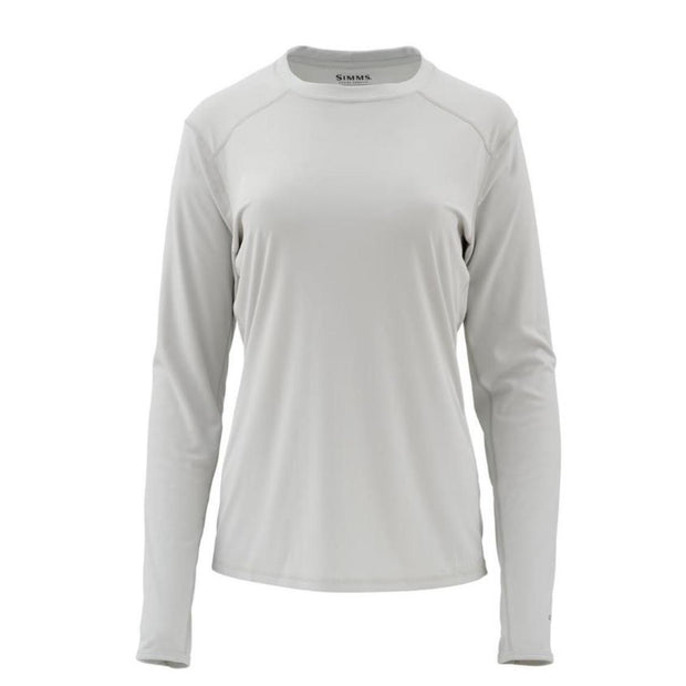 Simms Ladies Solarflex Long Sleeve Crewneck-WOMENS CLOTHING-Ash-S-Kevin's Fine Outdoor Gear & Apparel