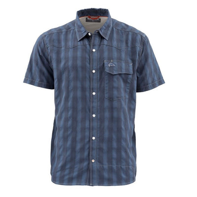 Simms Men's Big Sky Short Sleeve Shirt-MENS CLOTHING-Admiral Blue-S-Kevin's Fine Outdoor Gear & Apparel
