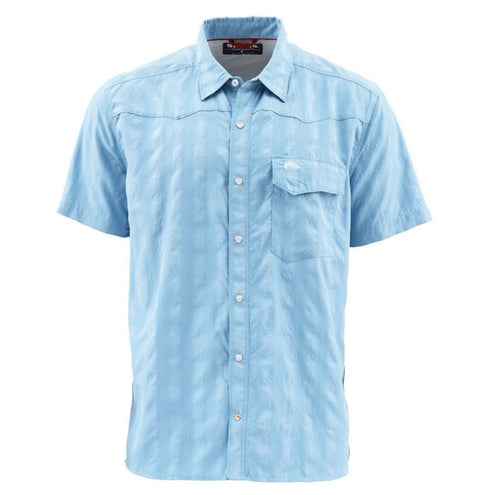 Simms Men's Big Sky Short Sleeve Shirt-MENS CLOTHING-Faded Denim-S-Kevin's Fine Outdoor Gear & Apparel