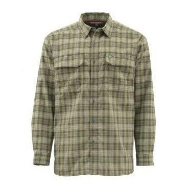 Simms Men's Coldweather Long Sleeve Shirt-MENS CLOTHING-Simms Fishing Products-COVERT PLAID-M-Kevin's Fine Outdoor Gear & Apparel