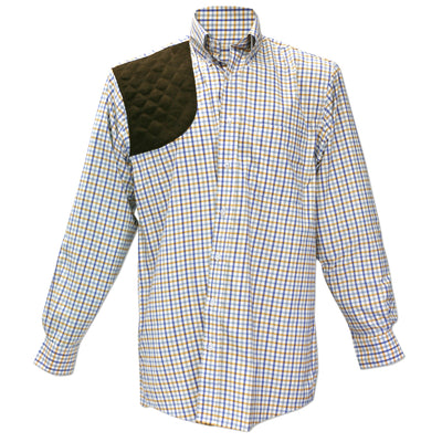 Kevin's Performance Orange/Blue Plaid Long Sleeve Right Hand Shooting Shirt-MENS CLOTHING-Kevin's Fine Outdoor Gear & Apparel