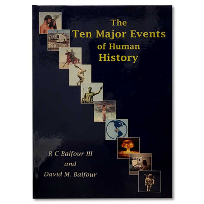 The Ten Major Events Of Human History Book-BOOKS, AUDIOS & VIDEOS-Kevin's Fine Outdoor Gear & Apparel