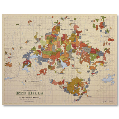 Red Hills Plantation Map