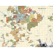 Albany Area Plantation Map w/ Bird Dogs Painting