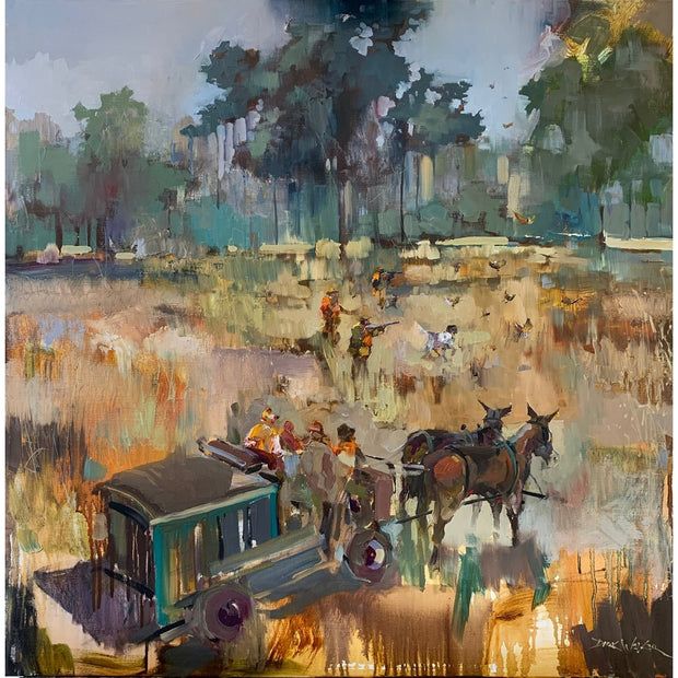 Bray's Island Plantation Quail Hunt Painting by Dirk Walker
