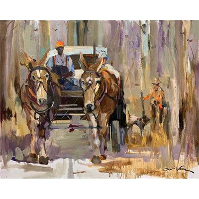 South Georgia Plantation Quail Hunt Painting by Dirk Walker