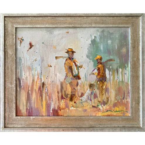 Father & Son - Quality Time Painting by Dirk Walker