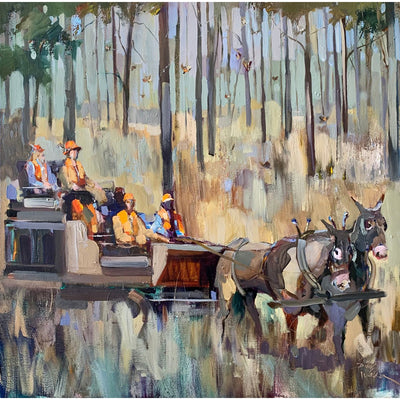 Georgia Tradition Quail Hunt Painting by Dirk Walker