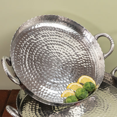 "Kevin's Hammered Round Scallop Tray 17""-HOME/GIFTWARE-Kevin's Fine Outdoor Gear & Apparel"