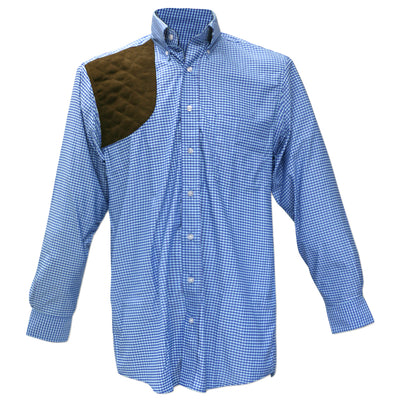 Kevin's BIG & TALL Performance Aqua / Blue Gingham Long Sleeve Right Hand Shooting Shirt-MENS CLOTHING-Kevin's Fine Outdoor Gear & Apparel