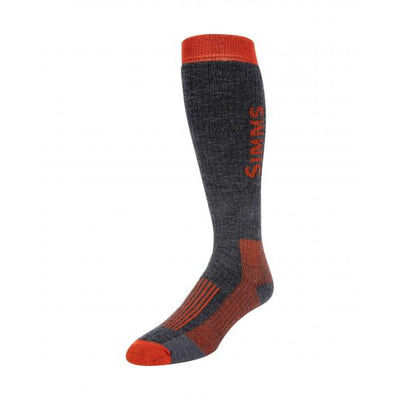 Simms Merino Midweight OTC Sock-Men's Accessories-M-Carbon-Kevin's Fine Outdoor Gear & Apparel