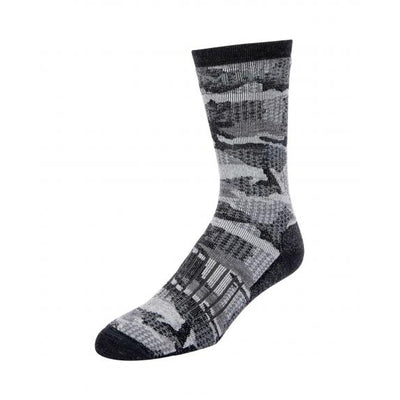 Simms Merino Midweight Hiker Sock-Men's Accessories-Hex Carbon Camo-M-Kevin's Fine Outdoor Gear & Apparel