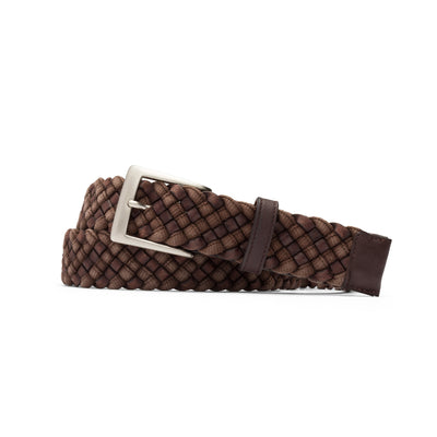 Leather Cloth Braid Belt W/Brushed Nickel Buckle-Men's Accessories-Kevin's Fine Outdoor Gear & Apparel