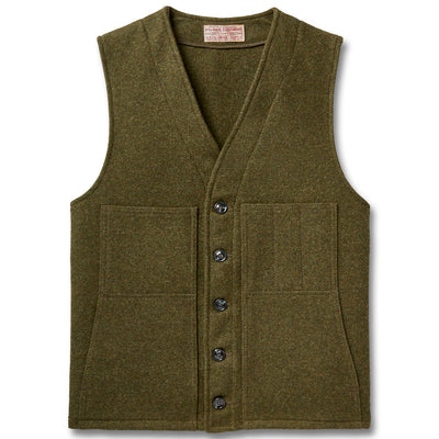 Filson Men's Mackinaw Wool Vest-MENS CLOTHING-FOREST GREEN-2X-LARGE-Kevin's Fine Outdoor Gear & Apparel