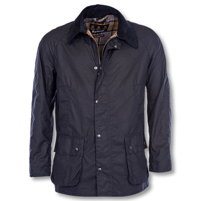 Barbour Washed Ashby Wax Jacket-MENS CLOTHING-NAVY-2X-LARGE-Kevin's Fine Outdoor Gear & Apparel