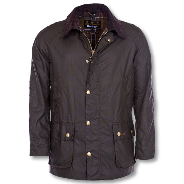 Barbour Washed Ashby Wax Jacket-MENS CLOTHING-OLIVE-LARGE-Kevin's Fine Outdoor Gear & Apparel