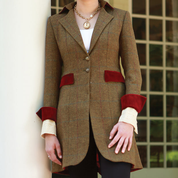T.ba Hacking Tweed Long Coat