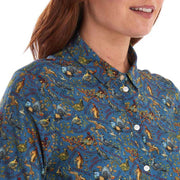 Barbour Women's Bridgewater Eleanor Shirt in Stormy Blue