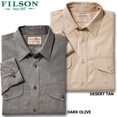 Filson Men's Long Sleeve Feather Cloth Shirt