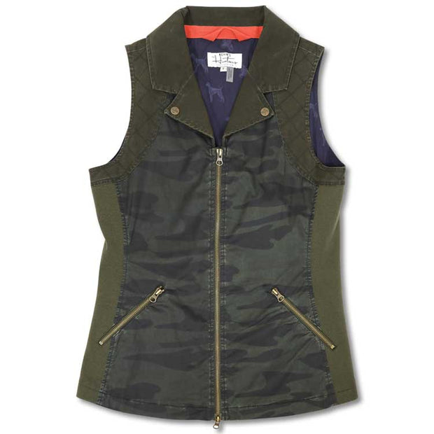 Kevin's Huntress Vintage Camo Washable Waxed Vest