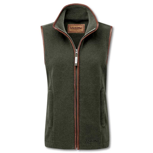 Schoffel Ladies Lyndon II Gilet-WOMENS CLOTHING-Schöffel Country-MOSS-US16/UK20-Kevin's Fine Outdoor Gear & Apparel