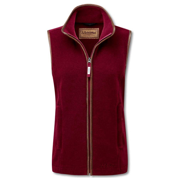 Schoffel Ladies Lyndon II Gilet-WOMENS CLOTHING-Schöffel Country-RUBY-US16/UK20-Kevin's Fine Outdoor Gear & Apparel